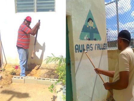 ACTIVADORES CULTURALES DE ABRIENDO CAMINOS PARTICIPARON EN JORNADA DE TRABAJO COMUNITARIO EN EL SALÓN PARROQUIAL POR LA CASA DE LA CULTURA EL CARDÓN.